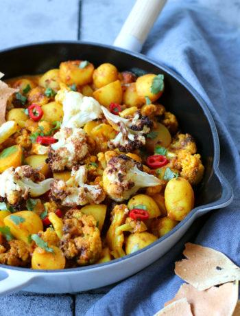 Vegetarische bloemkool curry recept www.jaimyskitchen.nl