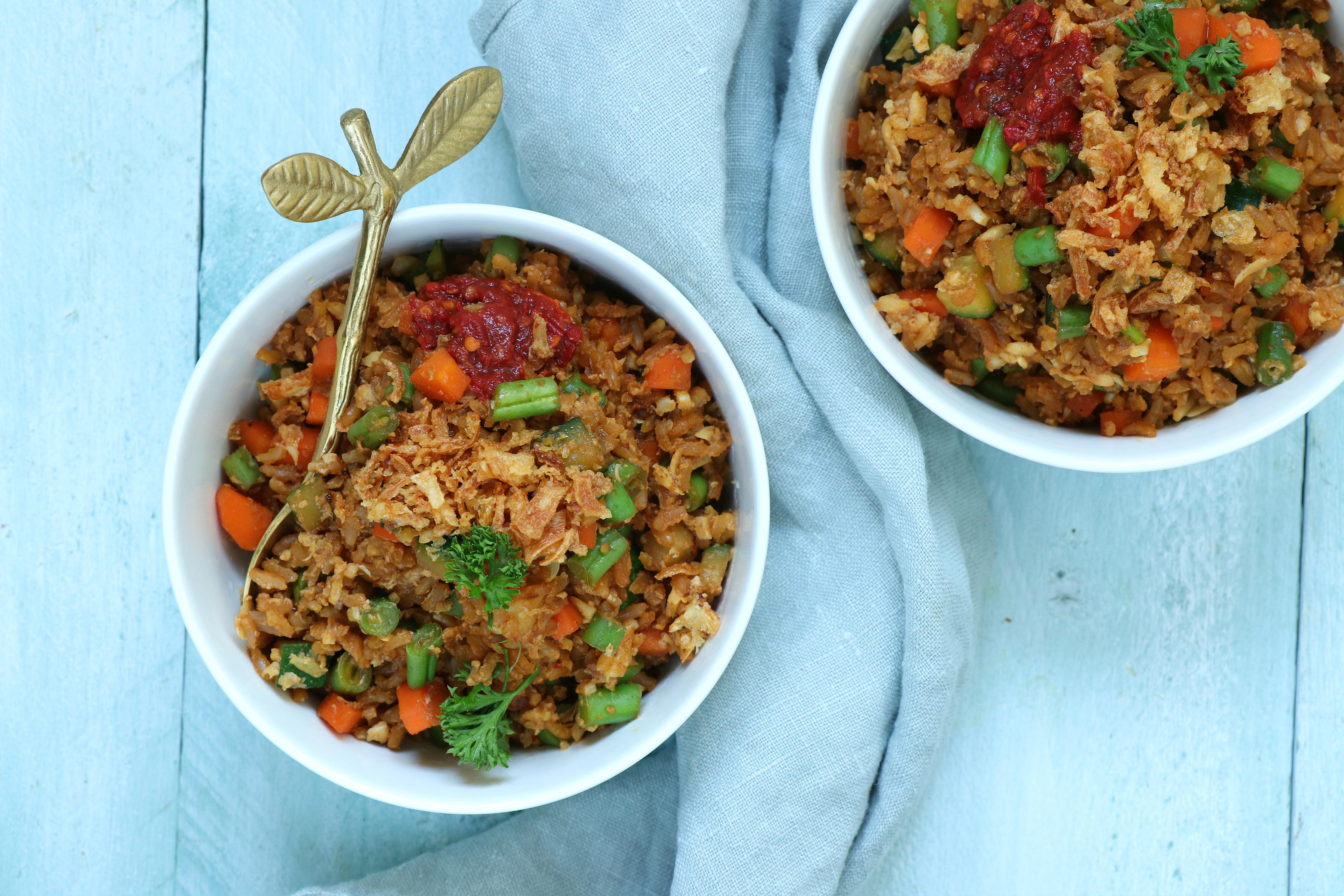 Vegetarische fried rice gebakken rijst recept www.jaimyskitchen.nl