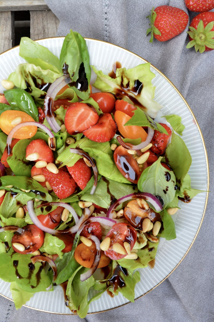 Zomer Salade met aardbei www.jaimyskitchen.nl