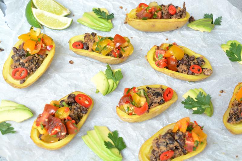 Aardappel bootjes Mexicaans www.jaimyskitchen.nl