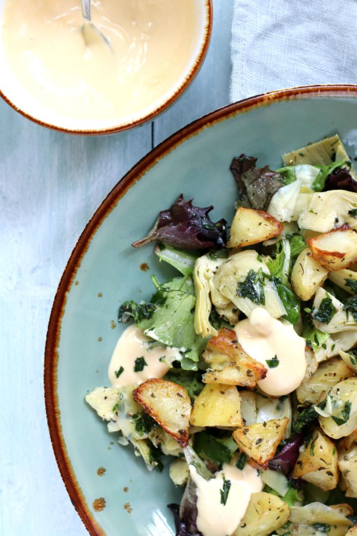 Aardappel Artisjok salade ottolenghi www.jaimyskitchen.nl
