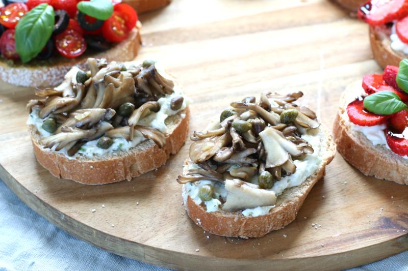Bruschetta met paddenstoel www.jaimyskitchen.nl