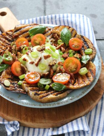 gegrilde ras el hanout aubergines met kwark www.jaimyskitchen.nl
