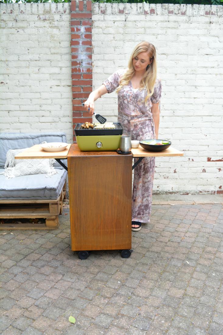 gegrilde romaine met feta en walnoot www.jaimyskitchen.nl