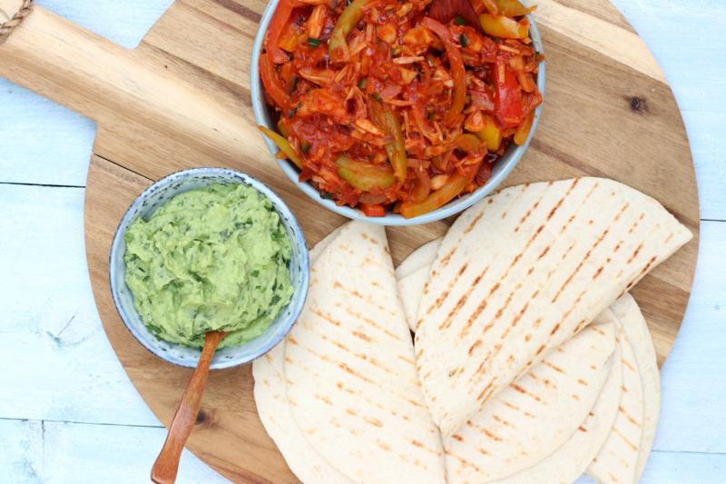veganbox BBQ jackfruit taco www.jaimyskitchen.nl