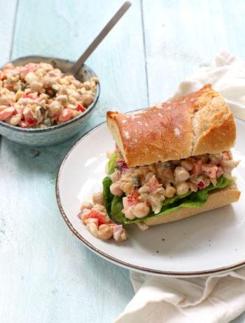 Vegan tonijn salade met kikkererwten www.jaimyskitchen.nl