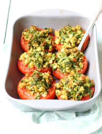 Kerstrecept gevulde tomaten recept www.jaimyskitchen.nl