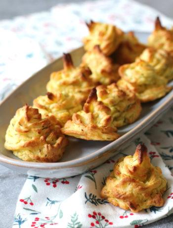 Krokante aardappel toefjes van aardappelpuree www.jaimyskitchen.nl