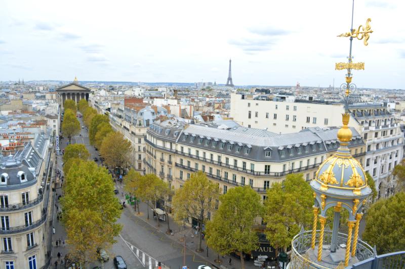 Parijs uitzicht Printemps www.jaimyskitchen.nl