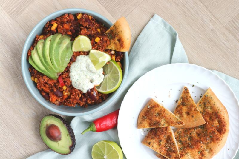 Vegetarische Mexicaanse Quinoa Bowl www.jaimyskitchen.nl