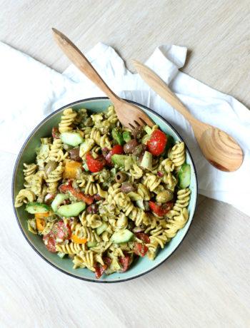 Recept Italiaanse pasta salade www.jaimyskitchen.nl