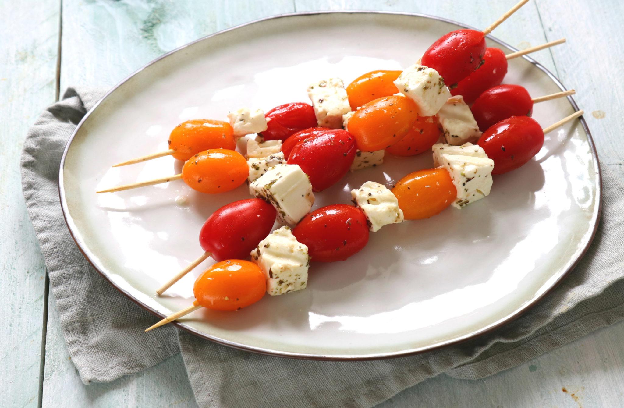 Cherrytomaat en feta BBQ spies www.jaimyskitchen.nl