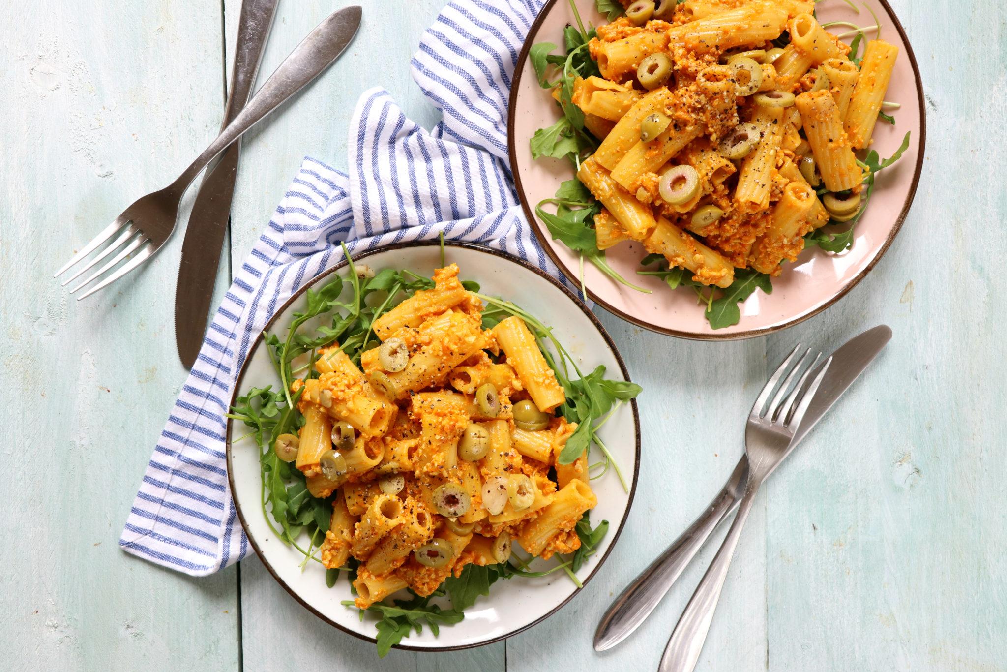 Pasta gele paprika pesto recept www.jaimyskitchen.nl