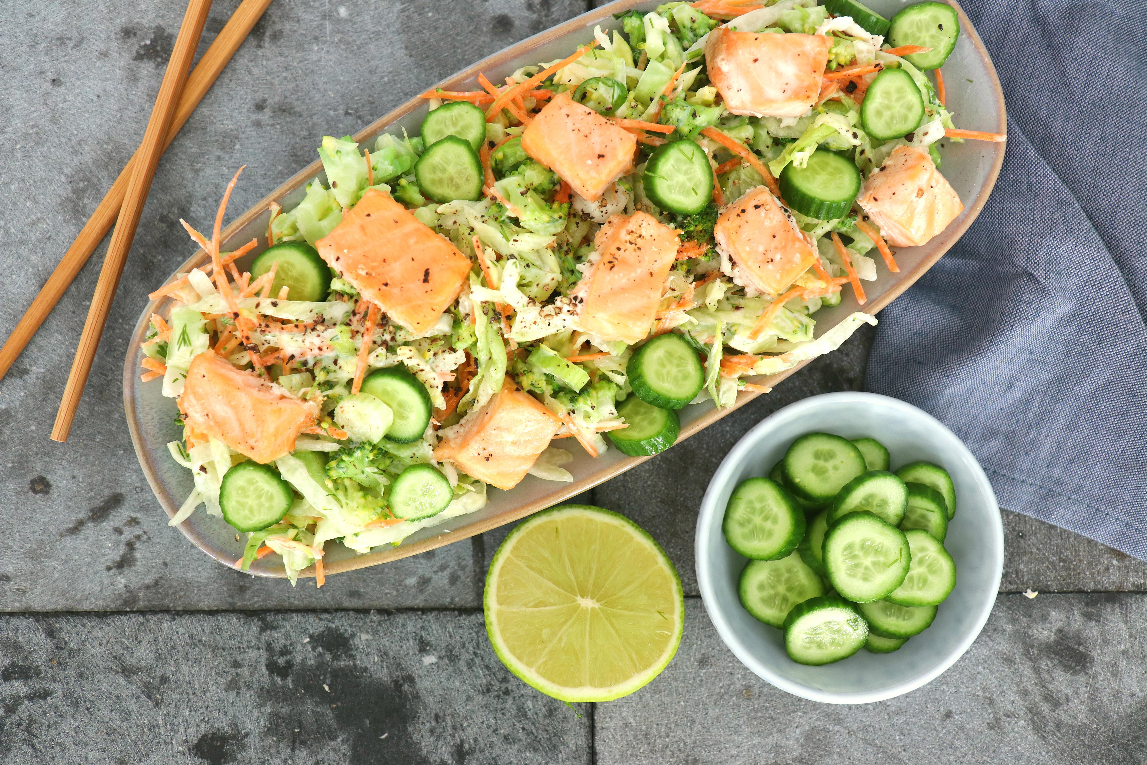 Recept salade met zalm www.jaimyskitchen.nl