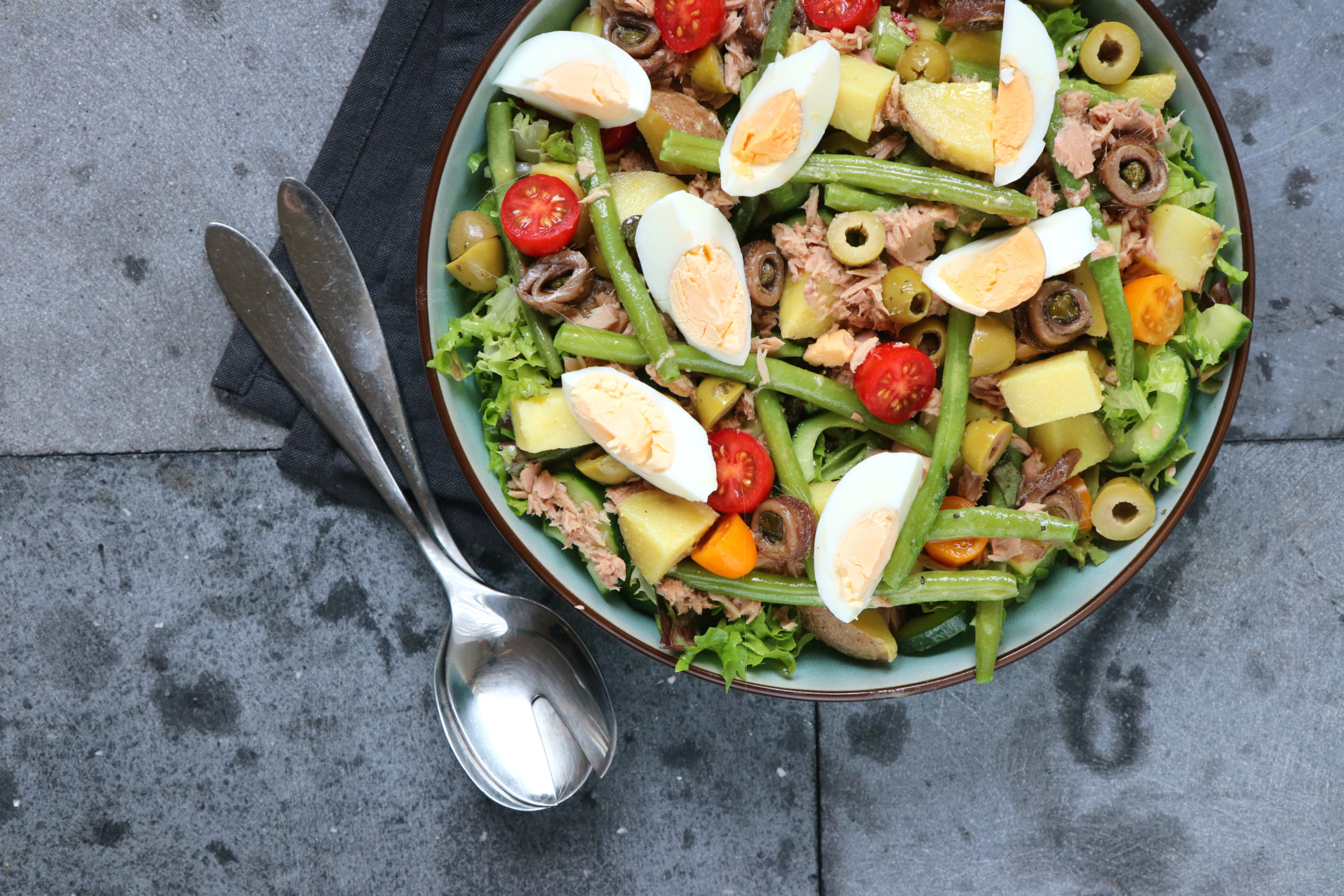 Recept salade nicoise met tonijn www.jaimyskitchen.nl