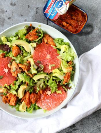 Salade met grapefruit en makreel www.jaimyskitchen.nl