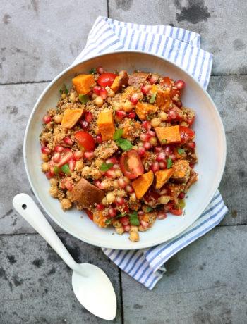 recept quinoa en zoete aardappel salade www.jaimyskitchen.nl