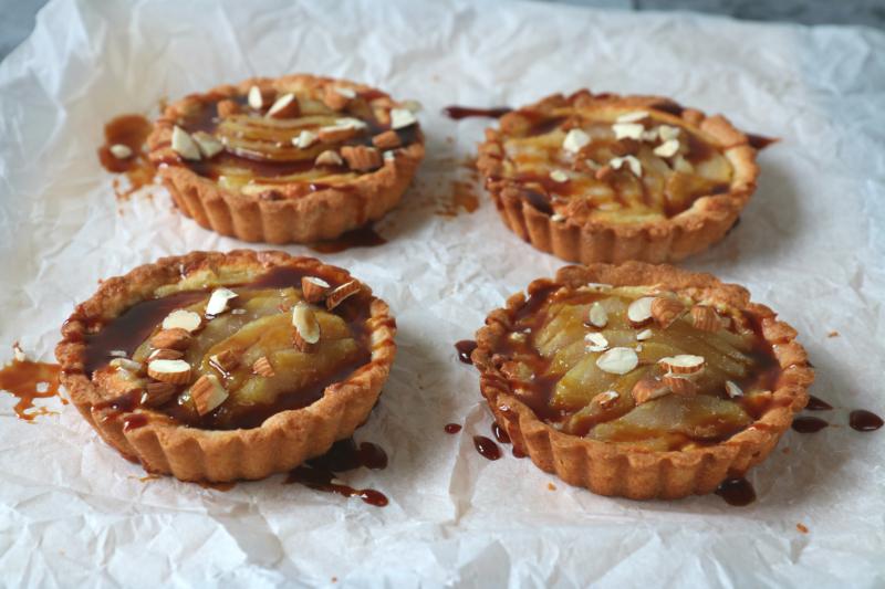 recept Peren taartjes met amandel en stroop www.jaimyskitchen.nl
