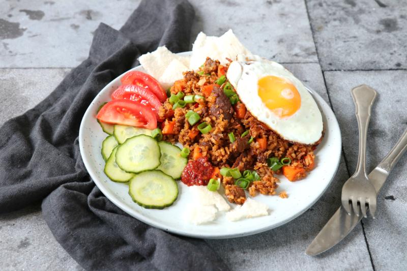 Recept nasi goreng met Pulled Oats www.jaimyskitchen.nl