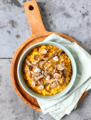 Recept pompoen risotto met paddenstoelen www.jaimyskitchen.nl