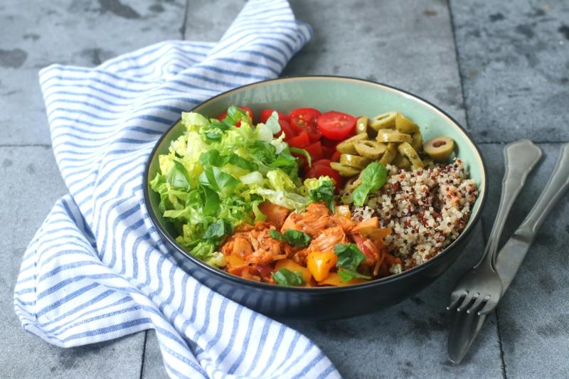 Italiaanse Buddha bowl met jackfruit www.jaimyskitchen.nl