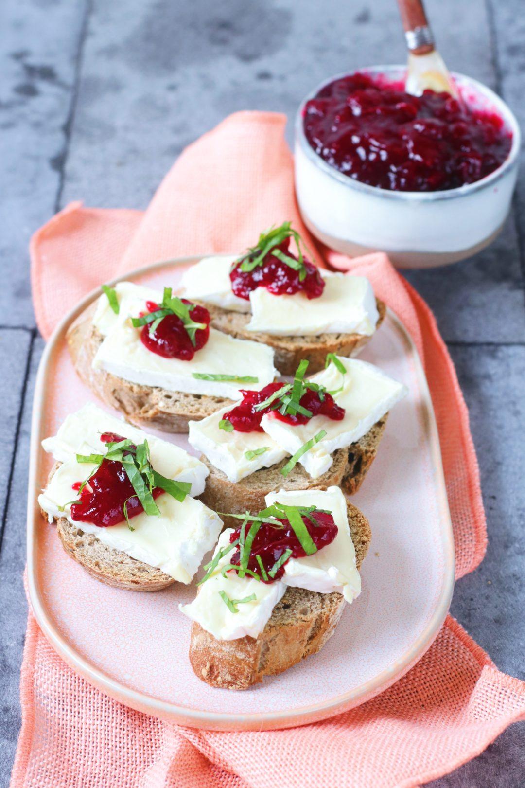 Recept crostini cranberry en brie www.jaimyskitchen.nl