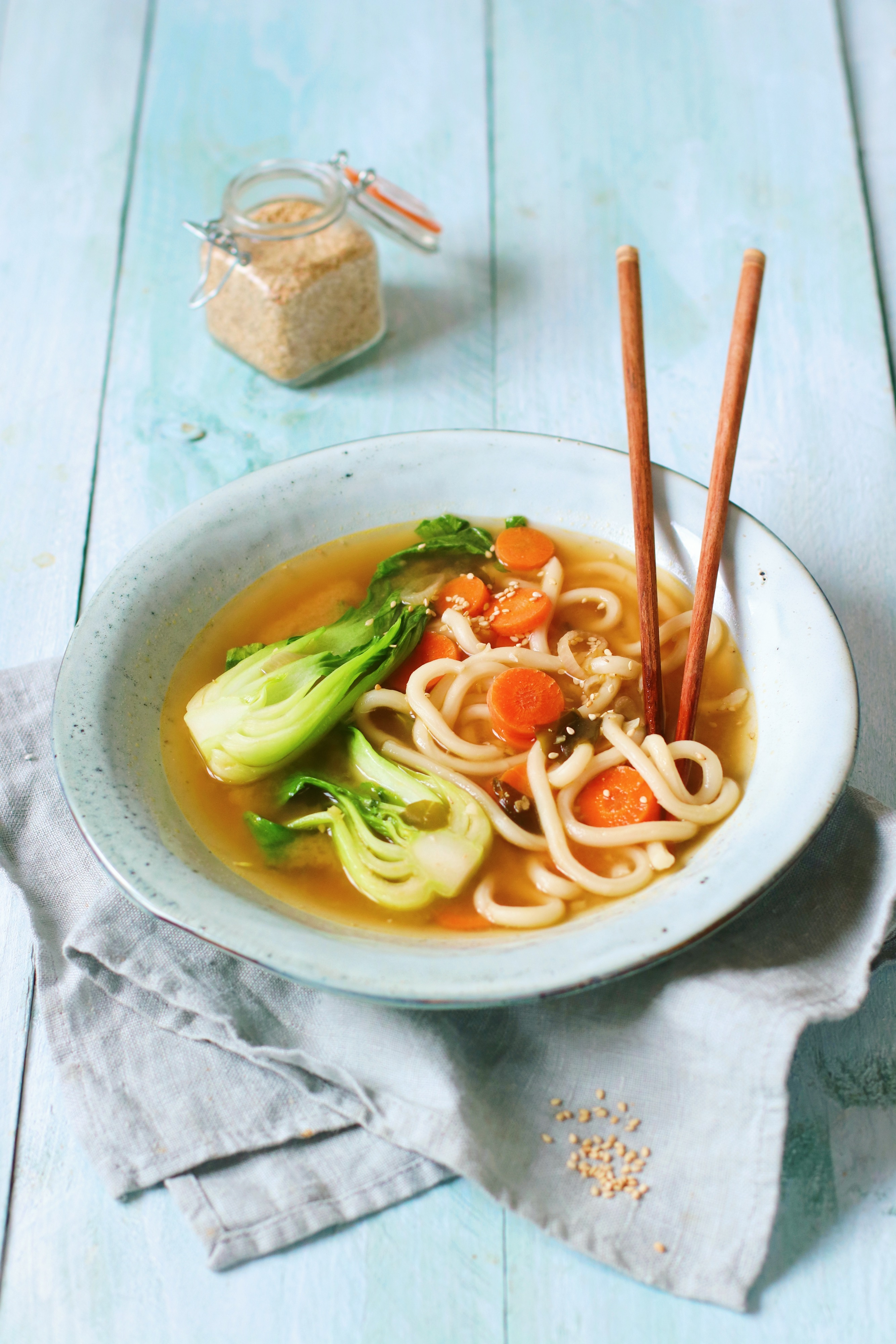 Recept udon noedel soep met bok choy www.jaimyskitchen.nl