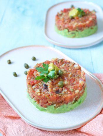 Recept vegetarische tomaten tartaar www.jaimyskitchen.nl