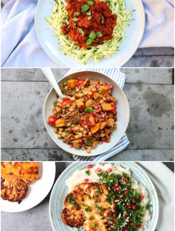 collage gezonde recepten www.jaimyskitchen.nl