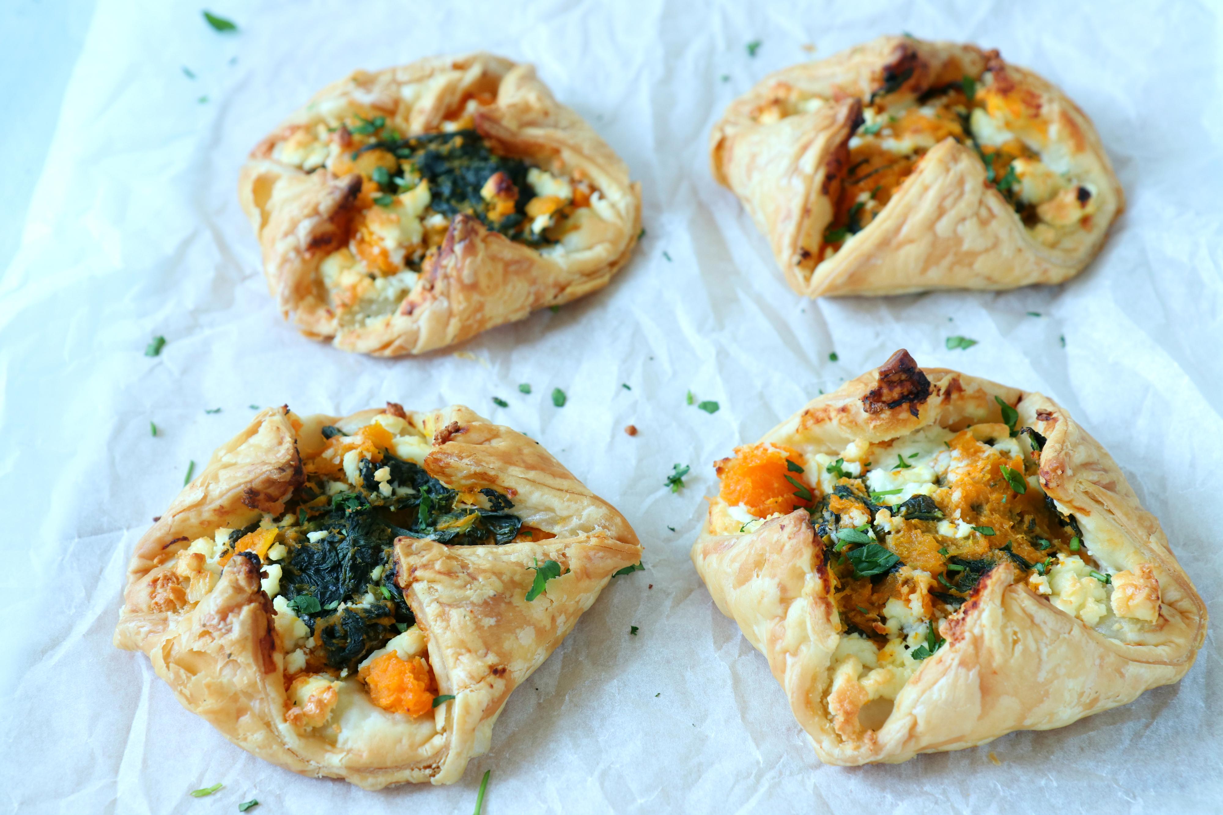 recept bladerdeeg pakketje met pompoen en spinazie www.jaimyskitchen.nl