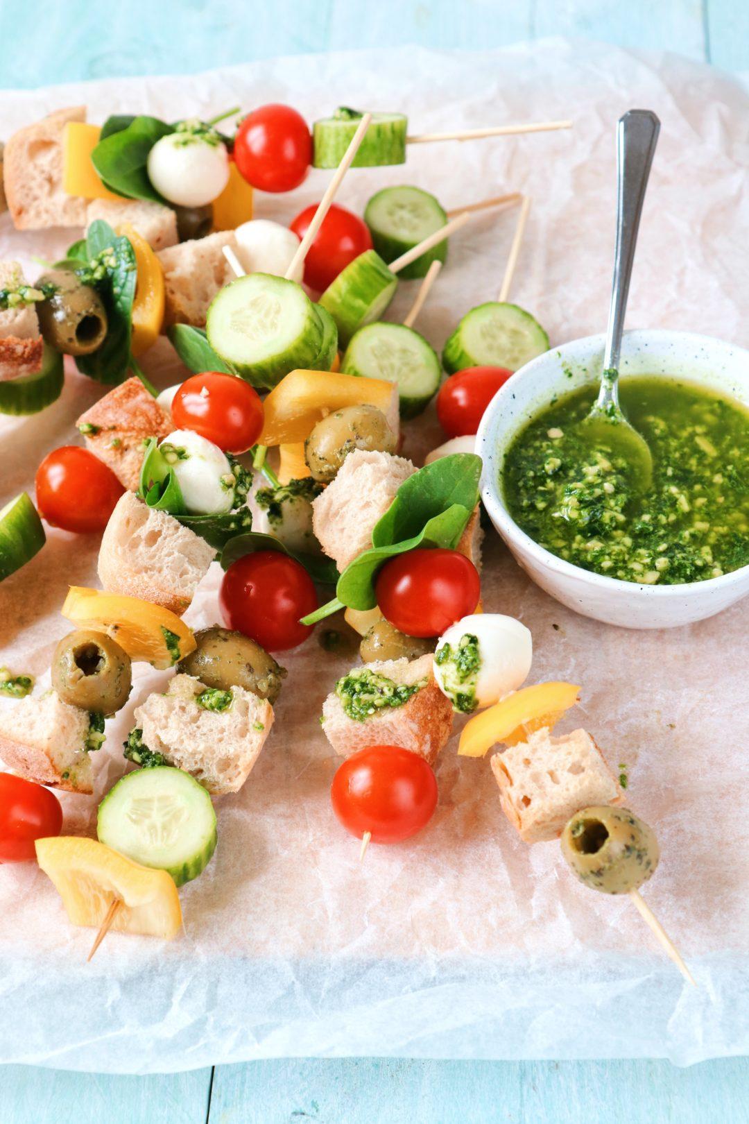 Hapjes groente spiesjes www.jaimyskitchen.nl