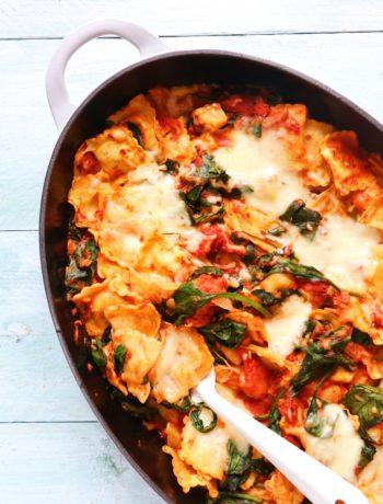 Recept ravioli ovenschotel www.jaimyskitchen.nl