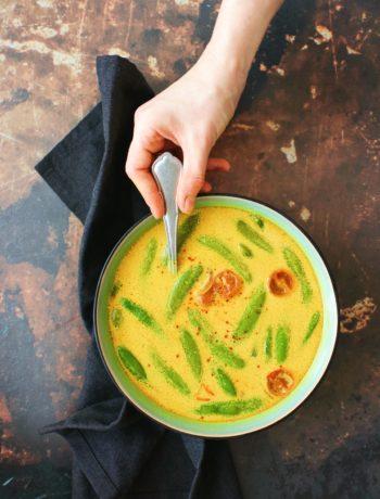 Recept kokos soep met peultjes www.jaimyskitchen.nl