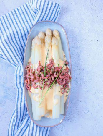 Witte asperges met Hollandse garnalen www.jaimyskitchen.nl