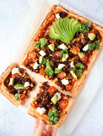 Recept Mexicaanse plaattaart met Pulled Oats www.jaimyskitchen.nl