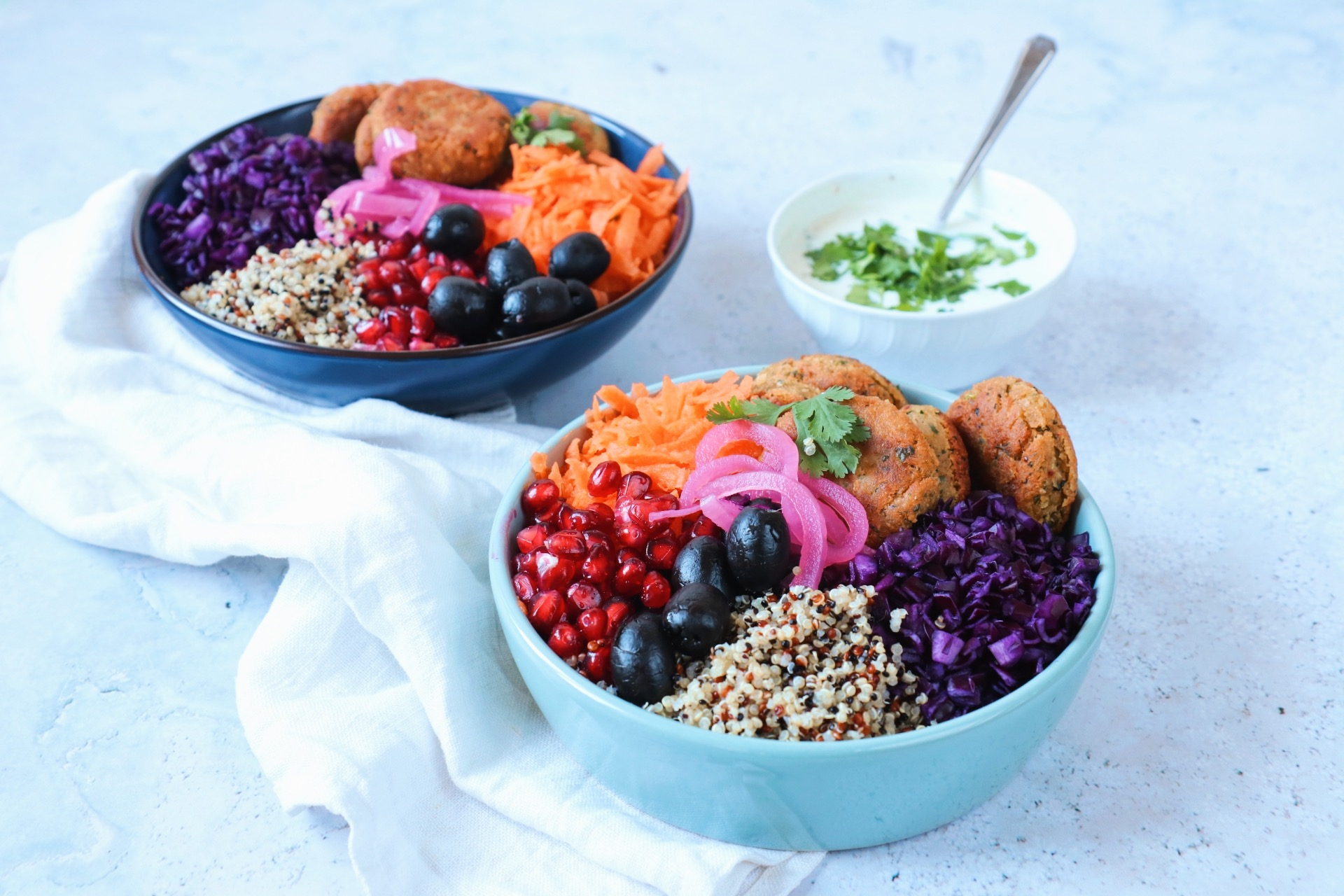 Recept falafel bowl met quinoa www.jaimyskitchen.nl