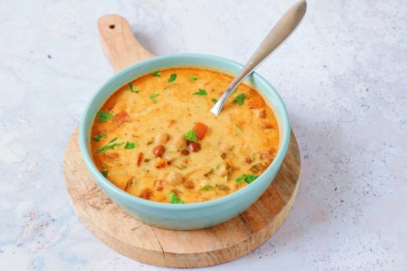 Recept Indiase soep kikkererwten www.jaimyskitchen.nl