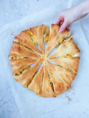 zoete croissant krans met mango www.jaimyskitchen.nl