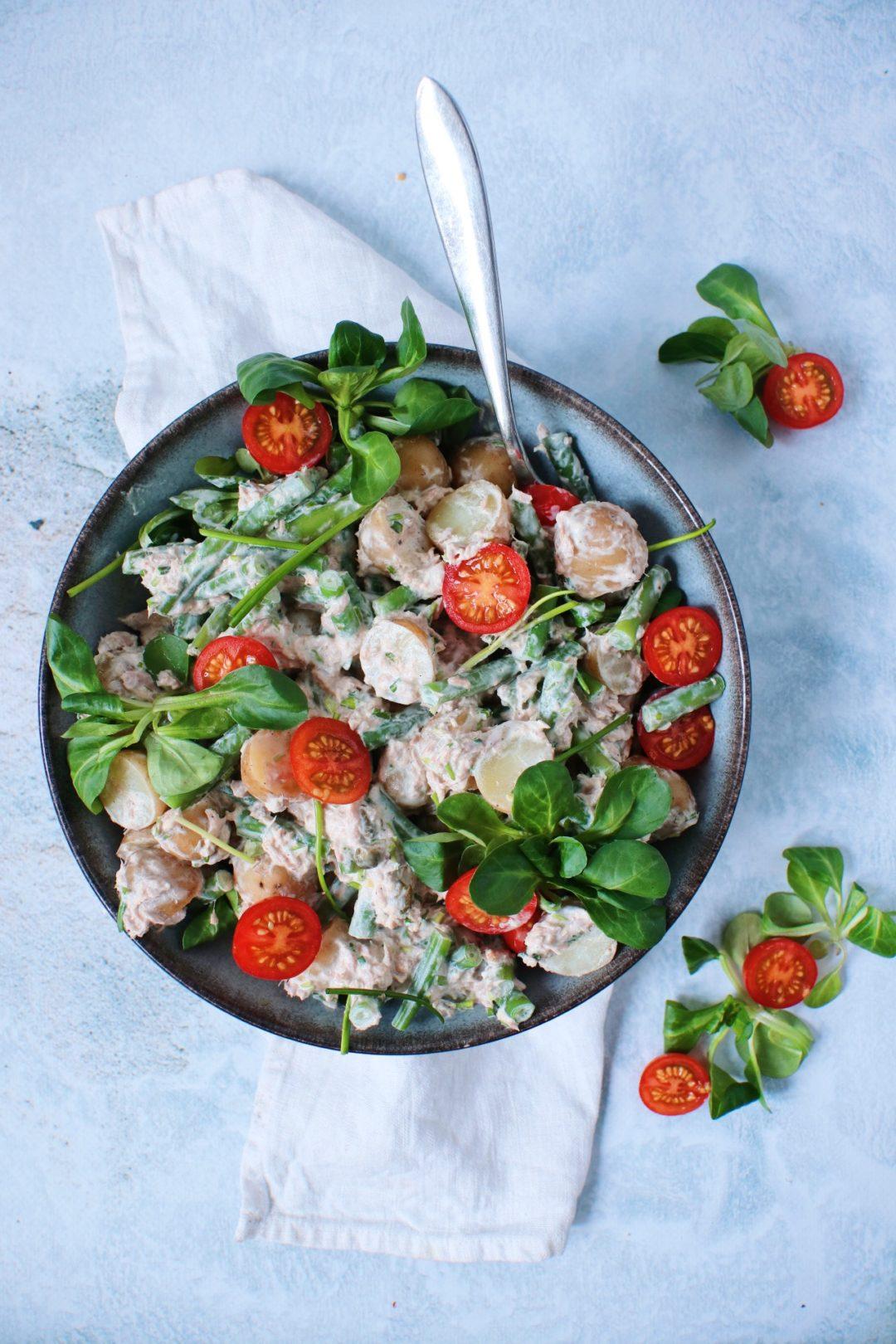 Krieltjes salade met tonijn www.jaimyskitchen.nl
