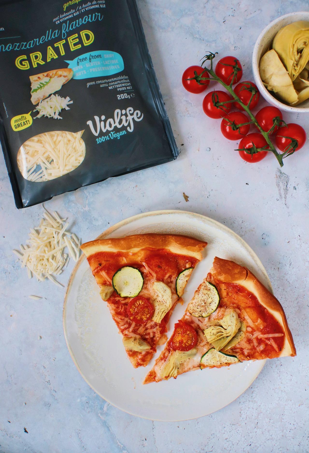 Vegan Pizza www.jaimyskitchen.nl