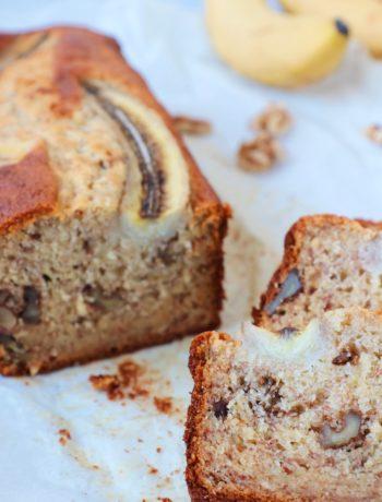 Bananenbrood met walnoten www.jaimyskitchen.nl
