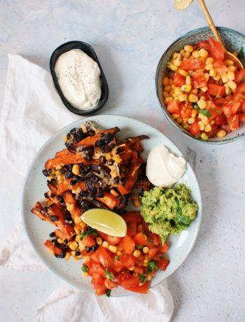 Vegetarische Mexicaanse kapsalon www.jaimyskitchen.nl