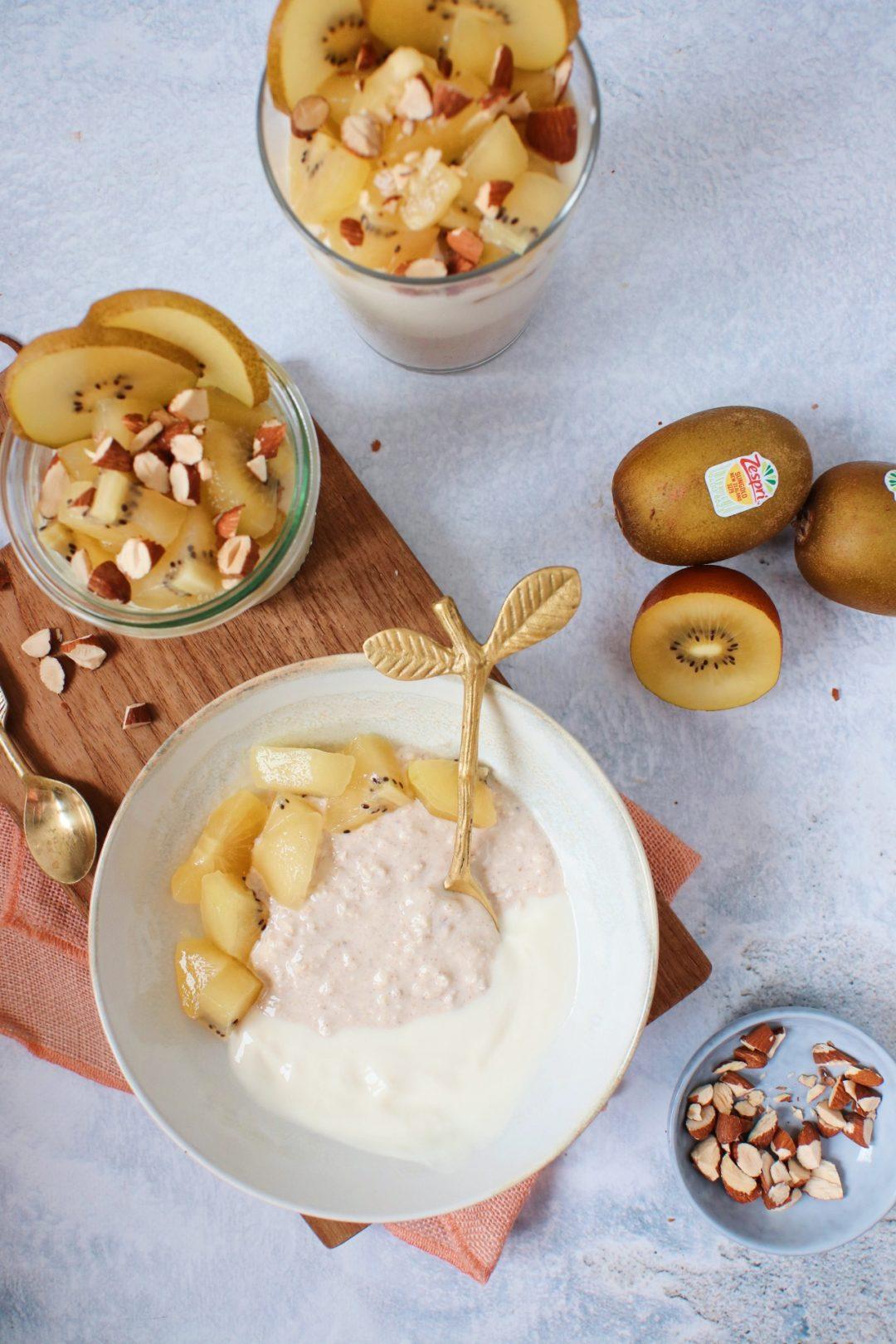 Overnight oats met kiwi www.jaimyskitchen.nl