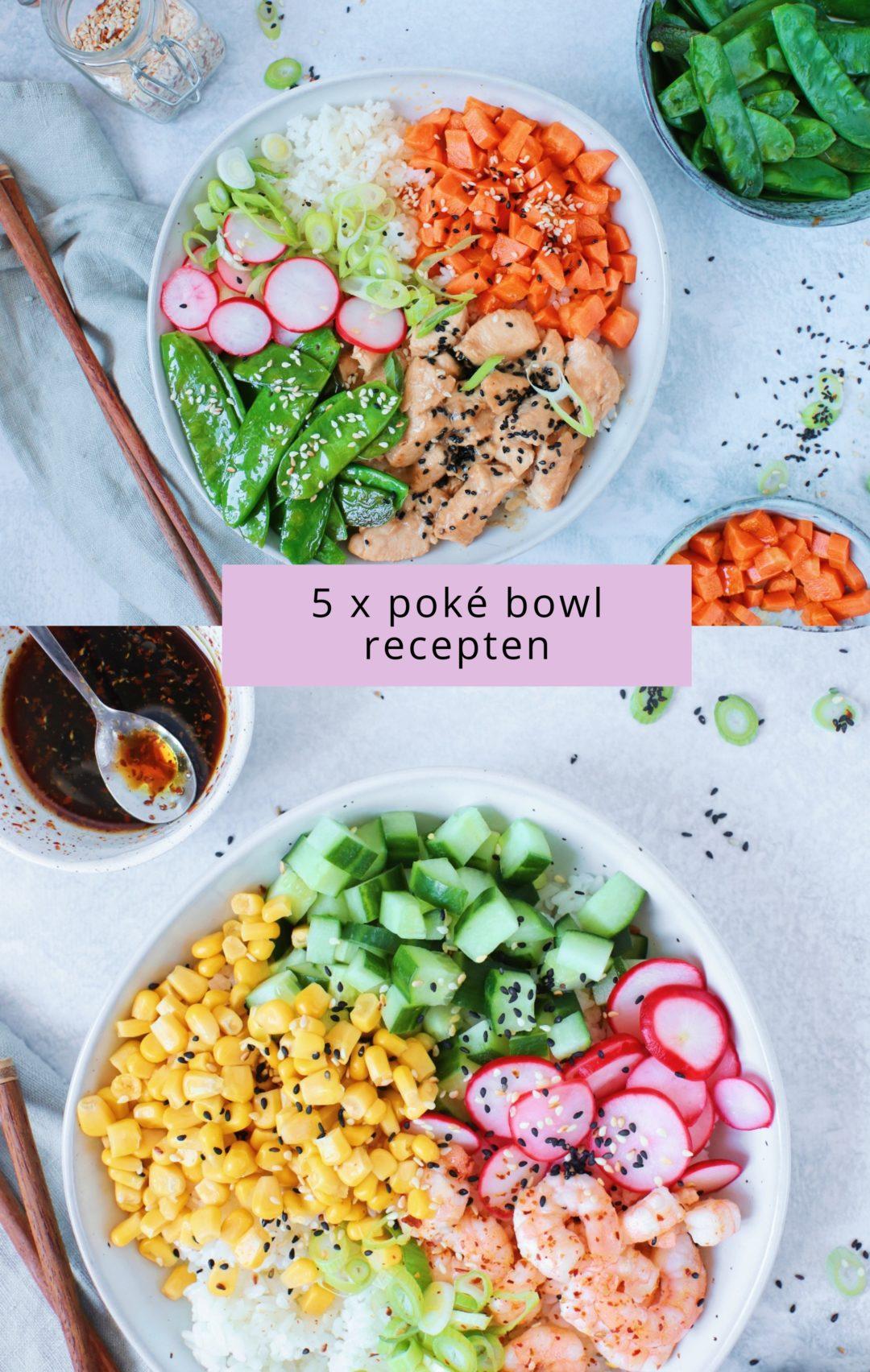 5 x poke bowl recepten www.jaimyskitchen.nl