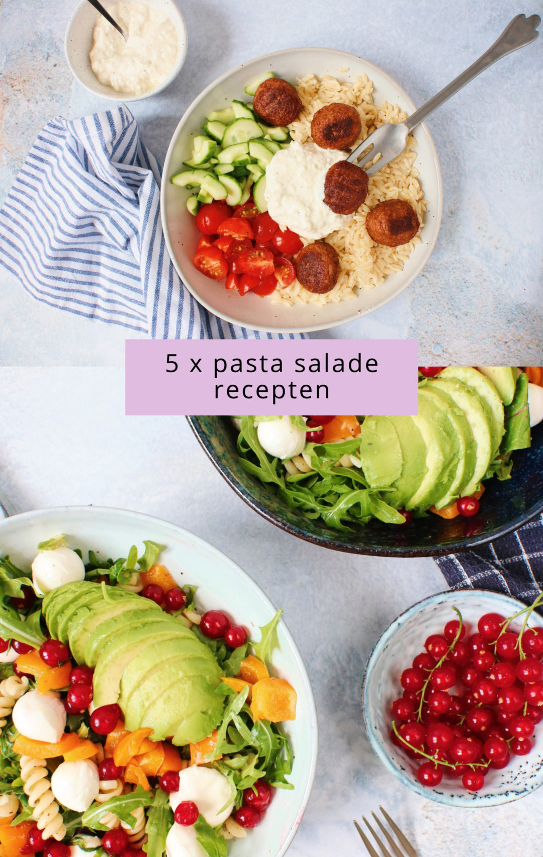 5x pasta salades www.jaimyskitchen.nl
