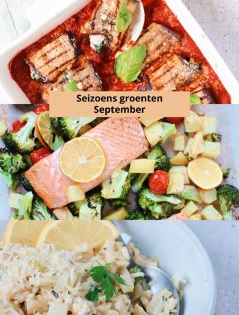 Seizoensgroenten september www.jaimyskitchen.nl